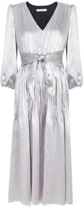 Philosophy di Lorenzo Serafini Silver hammered satin midi dress