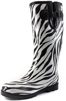 DailyShoes Daily Shoes Womens Rubber Stripe Rain Boots B/W 8