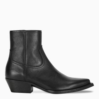 Saint Laurent Black Lukas ankle boots