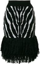 Balmain zebra printed skirt