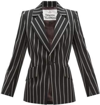 Vivienne Westwood Lou Lou Single-breasted Striped Jacket - Womens - Black White