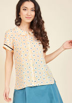 ModCloth Let's Do Lovely Button-Up Top in Garden in 2X