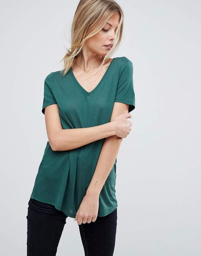 Asos Design V-Neck Swing T-Shirt