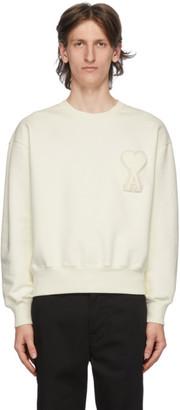 Ami Alexandre Mattiussi SSENSE Exclusive Off-White Ami De Coeur Sweatshirt