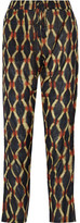 Figue Scheherazade Printed Cotton-Blend Broadcloth Pants
