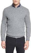 Ermenegildo Zegna Seamless Yak Crewneck Sweater, Gray