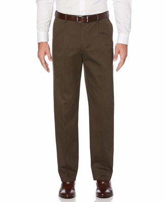 Savane Men's Pleated Wrinkle Free Twill Pant