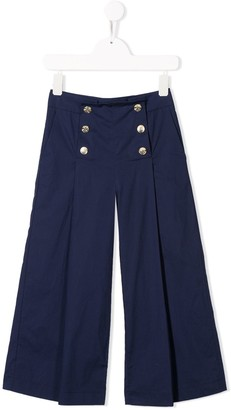 MonnaLisa Embossed Button Trousers