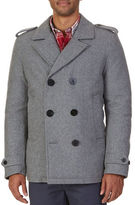 Nautica Double-Breasted Wool Blend Peacoat