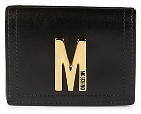 Moschino Leather Tri-Fold Wallet