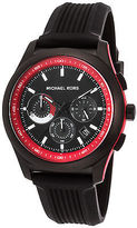 Michael Kors MK8376 Men's Outrigger Chronograph Black Silicone, Dial & IP SS