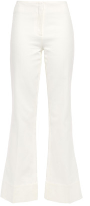 By Malene Birger Cotton-blend Twill Flared Pants
