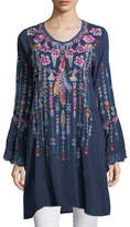 Johnny Was Lulu Embroidered Georgette Tunic