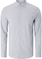 J. Lindeberg Daniel Season Stretch Cotton Patterned Shirt, Off White
