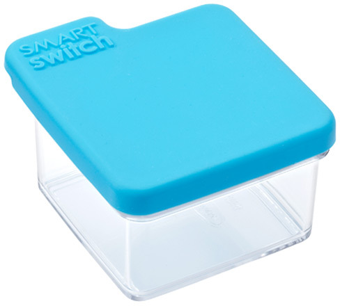 Container Store Small Tab Box Blue