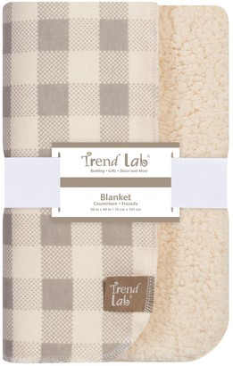 Trend Lab Buffalo Check Flannel & Faux-Shearling Blanket