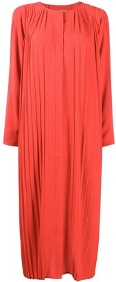 Henrik Vibskov Slit-Sleeve Pleated Midi Dress
