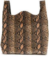 MM6 MAISON MARGIELA snakeskin effect tote - women - Cotton/Polyester/Spandex/Elastane - One Size