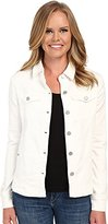 Liverpool Jeans Company Women's White Denim Shirt Jacket