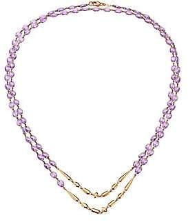 Etho Maria Women's 18K Rose Gold & Amethyst Beaded Double-Strand Long Necklace