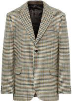 Raf Simons Oversized Houndstooth Wool Blazer