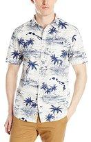 Just A Cheap Shirt Men's Woven Short Sleeve Shirt