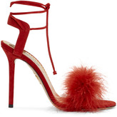 Charlotte Olympia Red Suede Salsa Heels