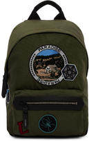 Lanvin Khaki Nylon Paradise Patch Backpack