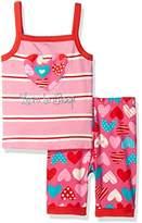 Hatley Girl's Crazy Hearts Tank Pyjama Set