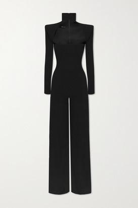 Alex Perry Morgan Cutout Crepe Jumpsuit - Black