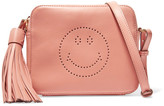 Anya Hindmarch Smiley Perforated Leather Shoulder Bag - Antique rose