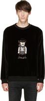 Dolce & Gabbana Black Velvet Cowboy Pullover