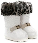 Roberto Cavalli faux fur trim snow boots