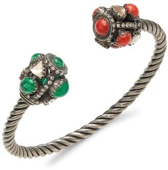 Amrapali Sterling Silver & Multi-Stone Cuff Bracelet