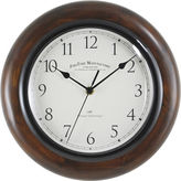 Asstd National Brand Walnut Round Whisper Wall Clock