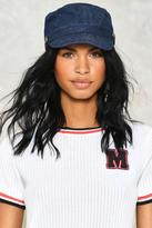 Nasty Gal nastygal Button Another Level Denim Cap