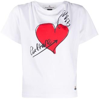 Vivienne Westwood Couture hear print T-shirt
