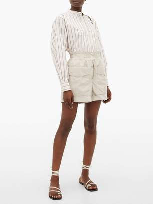 Etoile Isabel Marant Lizy High-rise Cotton Shorts - Womens - Ivory