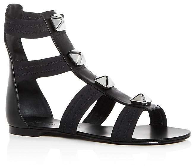 Giuseppe Zanotti Women's Glad Studded Leather Gladiator Sandals
