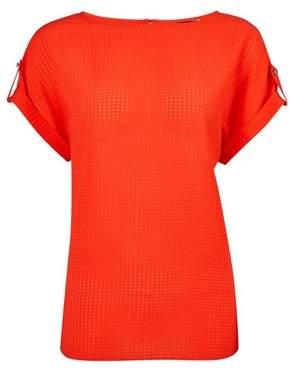Dorothy Perkins Womens Burnt Orange Textured Check T