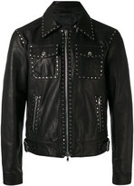 Diesel Black Gold Lagrange jacket - men - Calf Leather/Viscose/Brass - 46