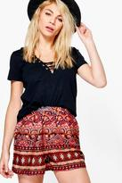 Boohoo Laura Print Flippy Shorts