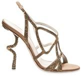 Sergio Rossi - Crystal Spiral Heel Sandals