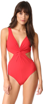 Karla Colletto V Neck Underwire Swimsuit