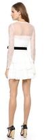 Alberta Ferretti collection Lace Dress with Velvet Sash