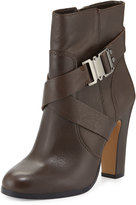 Vince Camuto Connolly Buckle Leather Bootie, Khaki Gray