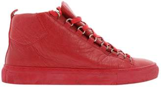 Balenciaga Arena Red Leather Trainers