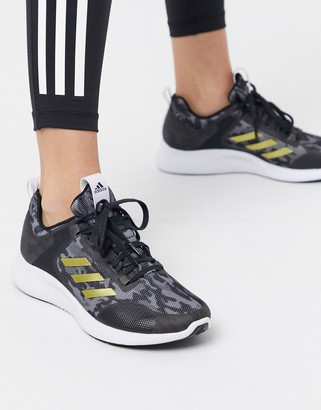 adidas edge bounce sneakers in black