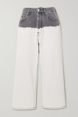 Givenchy Tie-dyed High-rise Wide-leg Jeans - White
