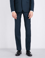 Sandro Slim-fit tapered wool and mohair-blend trousers